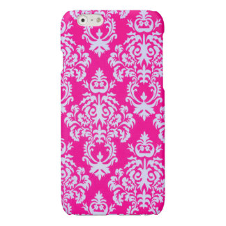 Damask iPhone case in pink/white