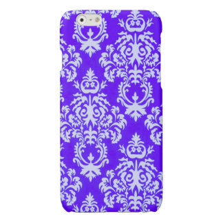 Damask iPhone case in purple/white