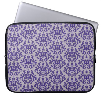 "Damask ""Kangaroo Paw"" purple grey laptop case"