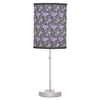 Damask Lavender and Black Table Lamp