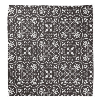 Damask Licorice Color Damask Design Head Kerchief