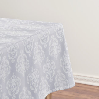 Damask Light Blue Tablecloth