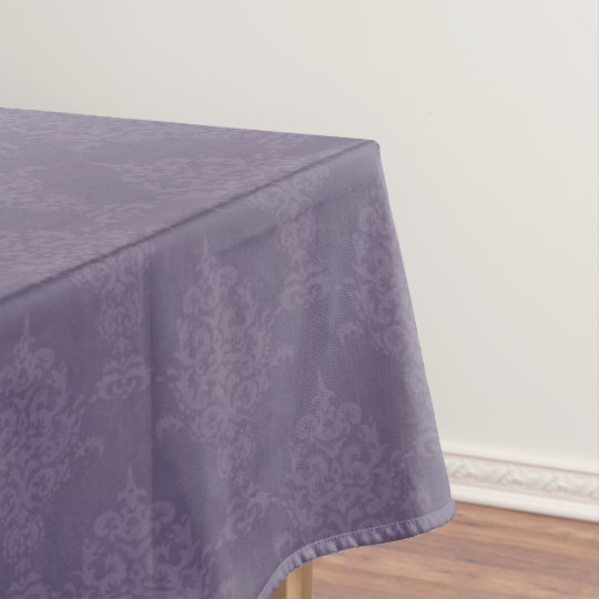 Damask Lighter and Darker Purple Tablecloth