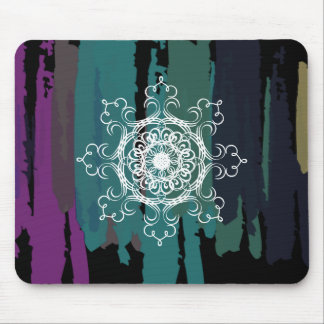 Damask Mandala Abstract Painted Watercolor Vintage Mouse Pad
