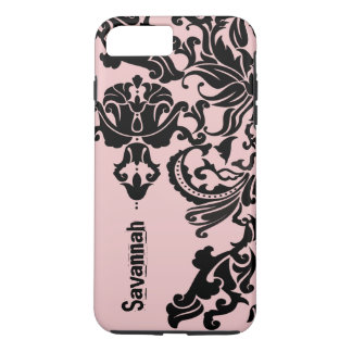 Damask Mauve Pink Pattern You Choose Color iPhone 7 Plus Case