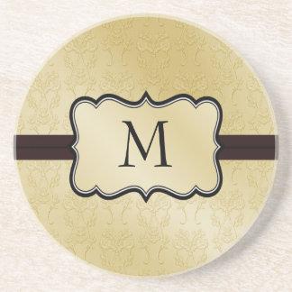 Damask Monogram coasters