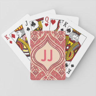 Damask Monogram Deck of Cards