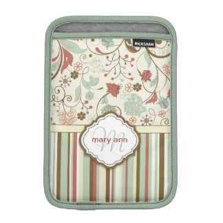 Damask Monogram Vintage Girly Floral iPad Mini Sleeves