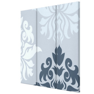Damask Ornate Montage II Blues A Stretched Canvas Prints