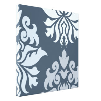 Damask Ornate Montage II Blues B Canvas Print