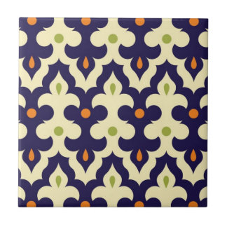 Damask paisley arabesque Moroccan pattern Tile