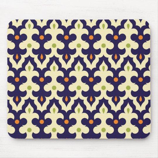 Damask paisley arabesque wallpaper pattern mouse pad