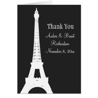 Damask Paris Thank You Card