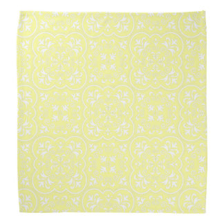 Damask Pastel Yellow High Quality Color Matching Kerchiefs