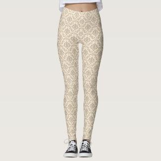 Damask pattern 3 leggings