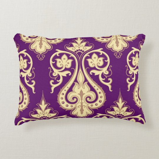 Damask Pattern 4 Decorative Pillow
