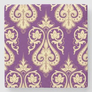 Damask Pattern 4 Stone Coaster