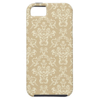 Damask Pattern Beige iPhone 5 Covers
