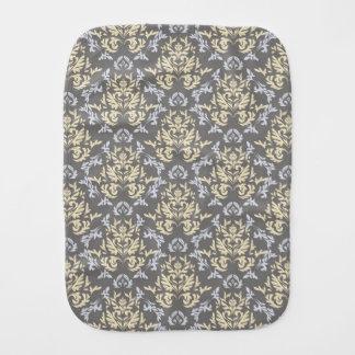 Damask pattern burp cloths