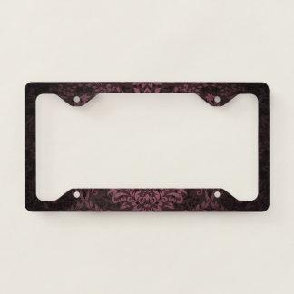 Damask Pattern Licence Plate Frame