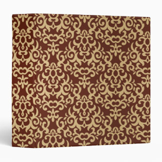 Damask pattern on gradient background vinyl binder