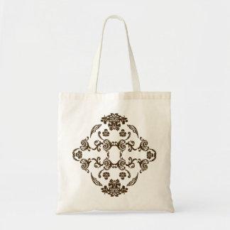 Damask pattern tote