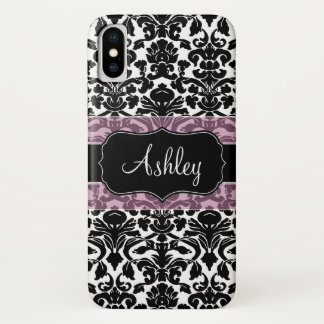 Damask Pattern with Area For Name Case-Mate iPhone Case