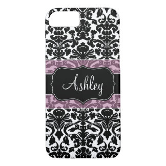 Damask Pattern with Area For Name iPhone 8/7 Case