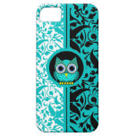 damask pattern with owl iPhone 5 case