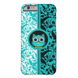 damask pattern with owl iPhone 6 case Barely There iPhone 6 Case
