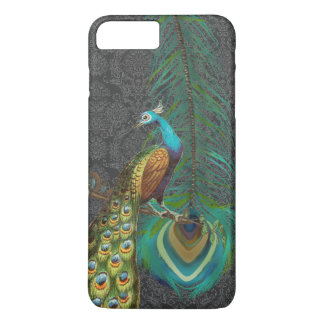 Damask Peacock & Feather You Choose Color iPhone 7 Plus Case