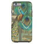 Damask Peacock & Feather You Choose Colour Tough iPhone 6 Case