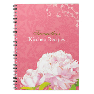 Damask Peony & Swirls Kitchen Recipe Journal