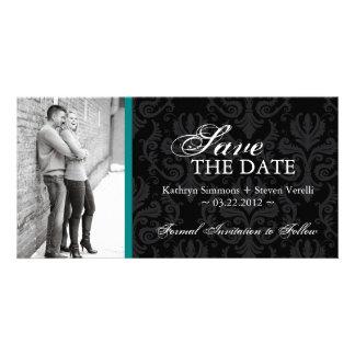 Damask Photo Save The Date Invitation Photo Cards