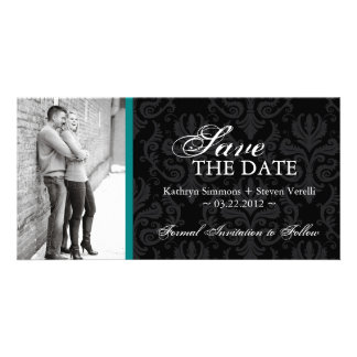 Damask Photo Save The Date Invitation Photo Cards