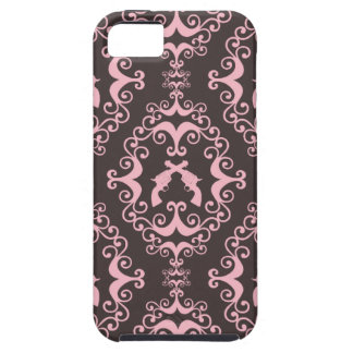 Damask pink black guns grunge western pistols chic case for the iPhone 5