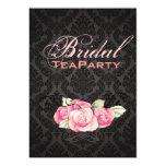 Damask Pink Floral Bridal Shower Tea Party