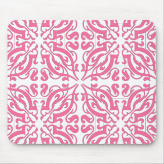 DAMASK - Pink Mouse Pad