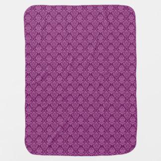 Damask Plum Berry Pattern Receiving Blankets