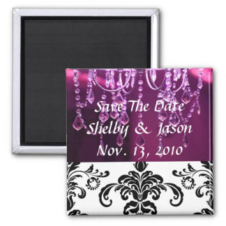 Damask  purple chandelier, Save The Da... Magnet