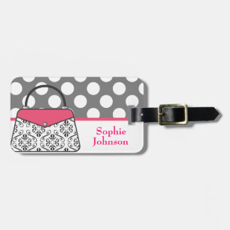 Damask Purse Handbag Luggage Tag