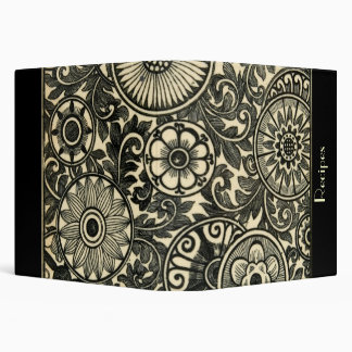 Damask Recipe Binder! Vinyl Binder