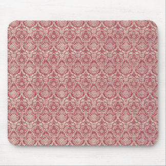 Damask Red Pattern Mouse Pad