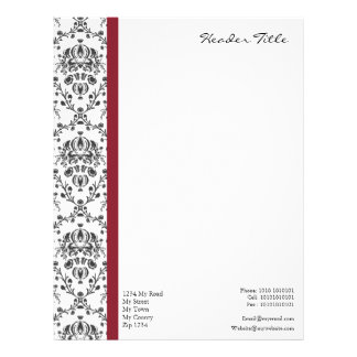 Damask Regal Personalized Letterhead