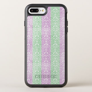 Damask Ribbion Candy Stripes OtterBox Symmetry iPhone 7 Plus Case