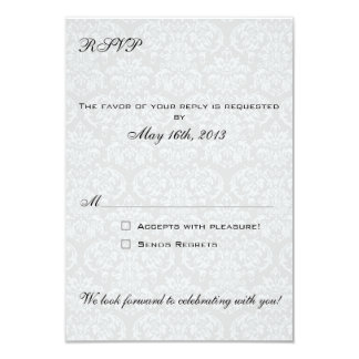 Damask RSVP Cards coordinate with Las Vegas Invite