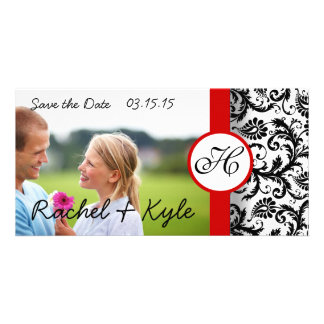 Damask Save the Date- Scroll down to see new style Personalized Photo Card