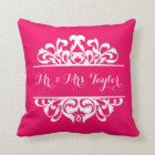 Damask Signature DIY CHOOSE YOUR BACKGROUND COLOR Throw Pillow