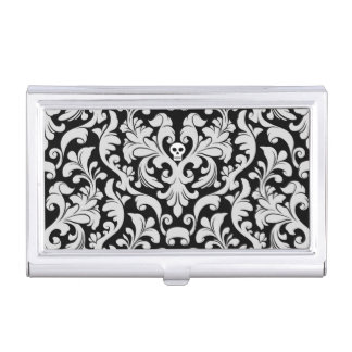 Damask Skull Business Card Holder