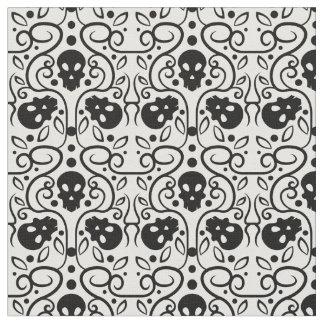 Damask skulls pattern fabric